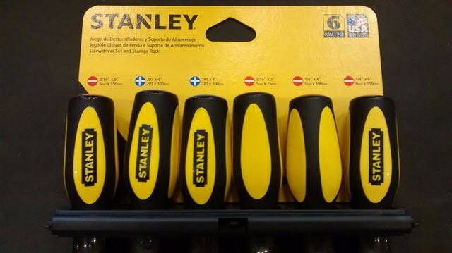 Stanley 60-​060 6-Piece Standard Fluted Screwdriver Set