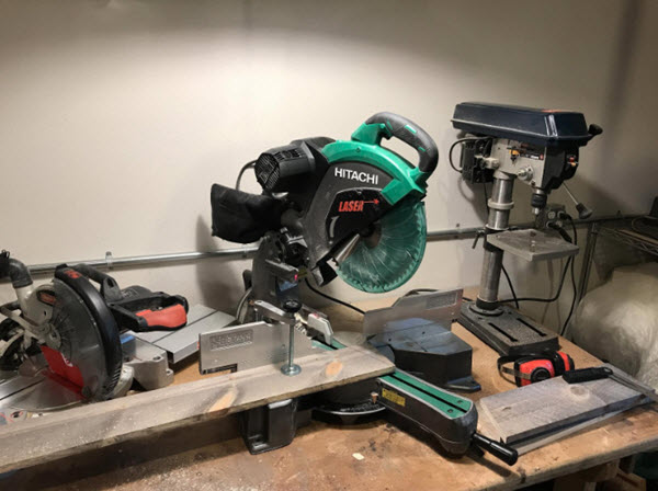 Side View Of Hitachi C12RSH2 Miter Saw