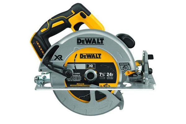 Side View of DEWALT DCS570B Circular Saw